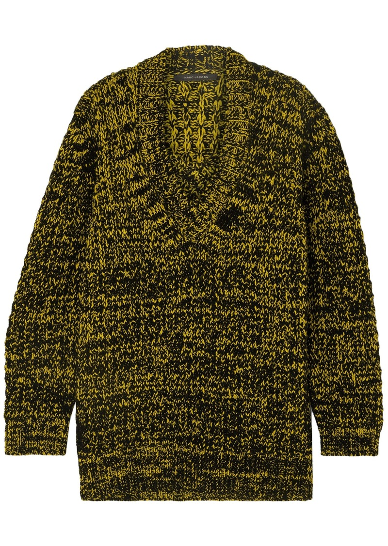 Marc Jacobs Woman Oversized Marled Knitted Sweater Yellow