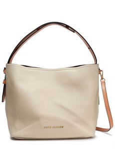 Marc Jacobs Woman Road Pebbled-leather Shoulder Bag Ecru