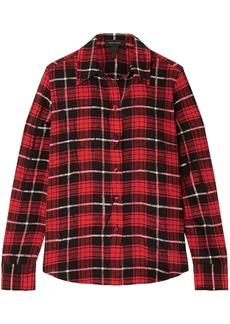 Marc Jacobs Woman Checked Silk Crepe De Chine Shirt Crimson