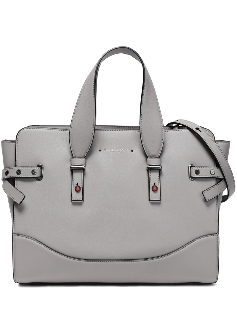 Marc Jacobs Woman Rivet Leather Shoulder Bag Gray