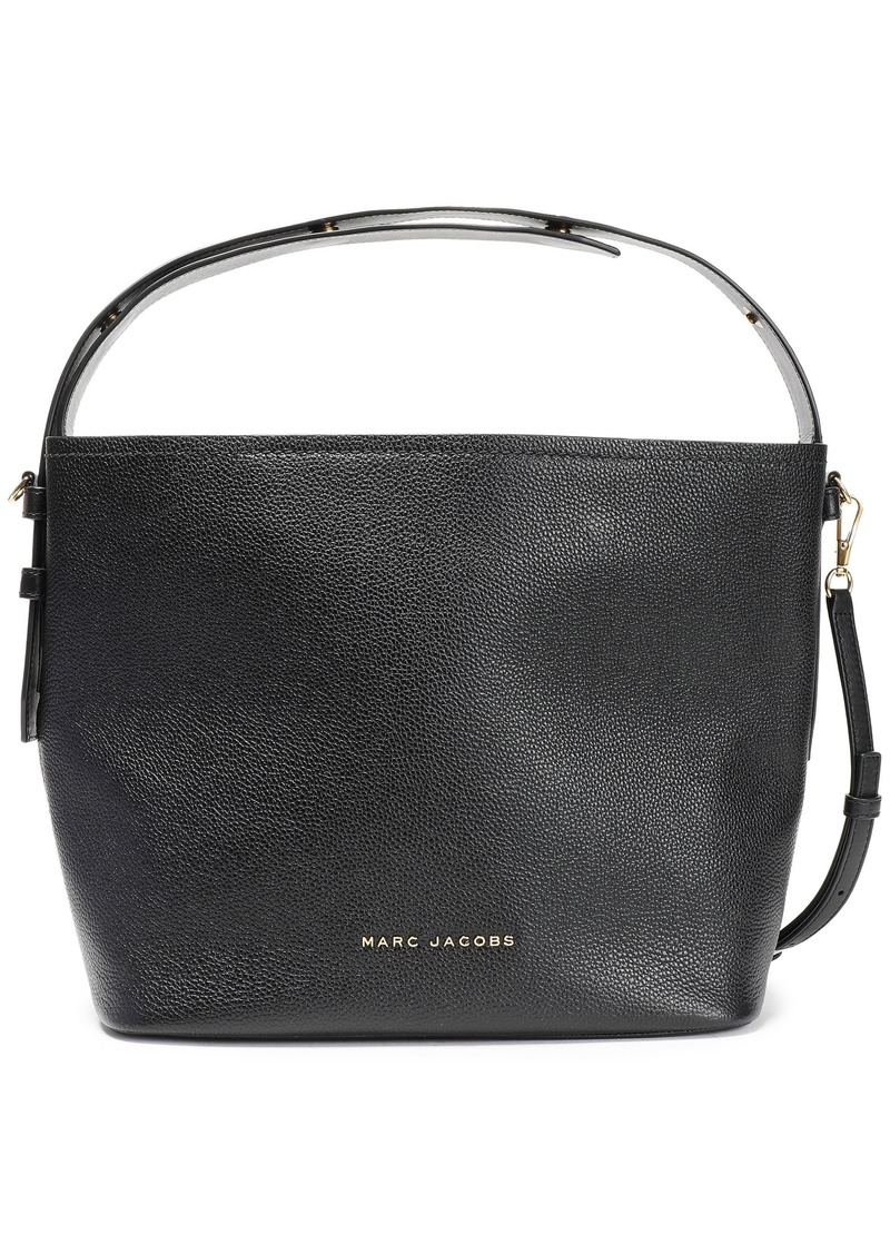 Marc Jacobs Woman Road Pebbled-leather Shoulder Bag Black