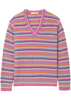Marc Jacobs Woman Striped Cashmere Sweater Pink