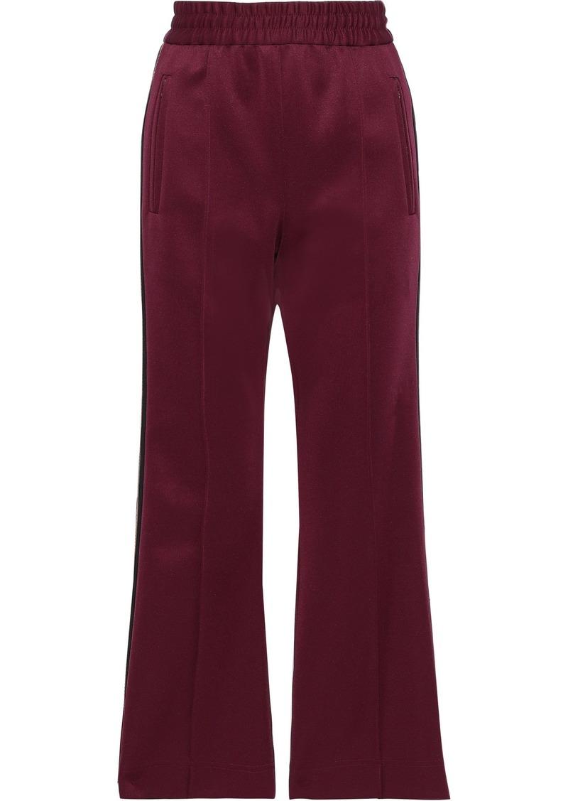 Marc Jacobs Woman Striped Satin-crepe Track Pants Burgundy