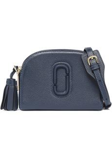 Marc Jacobs Woman Tasseled Textured-leather Shoulder Bag Navy