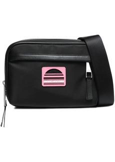 Marc Jacobs Woman Leather-trimmed Shell Shoulder Bag Black