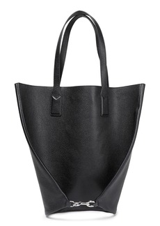 Marc Jacobs Woman Wingman Pebbled-leather Tote Black