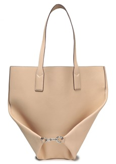 Marc Jacobs Woman Wingman Pebbled-leather Tote Beige