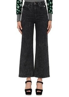 Marc Jacobs Women's Acid-Washed Wide-Leg Jeans