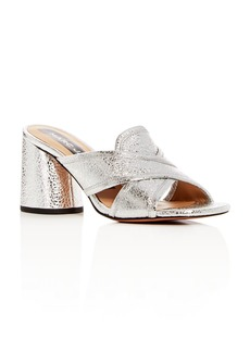 MARC JACOBS Women's Aurora Leather Crisscross High-Heel Slide Sandals