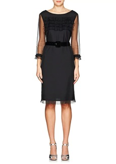 Marc Jacobs Women's Belted Silk Shift Dress