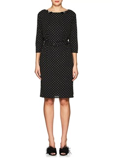 Marc Jacobs Women's Bow-Appliquéd Glitter-Dot Crepe Dress
