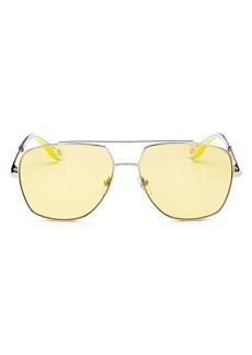 MARC JACOBS Women's Brow Bar Aviator Sunglasses, 58mm