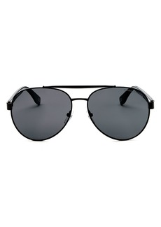 MARC JACOBS Women's Brow Bar Aviator Sunglasses, 60mm