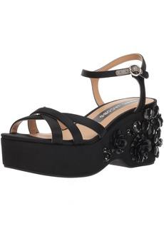 Marc Jacobs Women's Callie Embellished Wedge Sandal  35 M EU (5 US)
