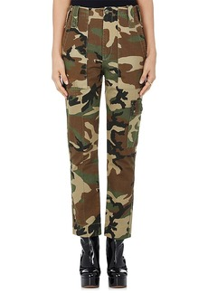 Marc Jacobs Women's Camouflage-Print Twill Skinny Cargo Pants