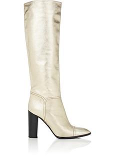 Marc Jacobs Women's Cap-Toe Metallic Leather Knee Boots
