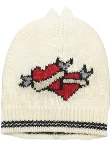 Marc Jacobs Women's Double Heart Hat In Ivory Multi