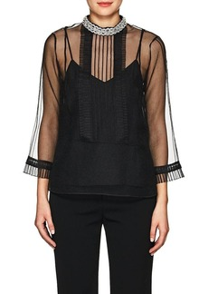 Marc Jacobs Women's Embellished-Collar Organza Blouse