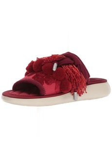 Marc Jacobs Women's Emerson Pompom Sport Sandal Slide red 41 M EU (11 US)