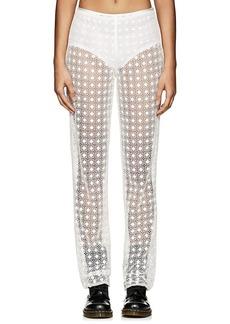 Marc Jacobs Women's Floral Cotton-Blend Crochet Pants