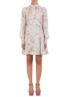 Marc Jacobs Women's Floral Cotton-Silk Tie-Waist Dress
