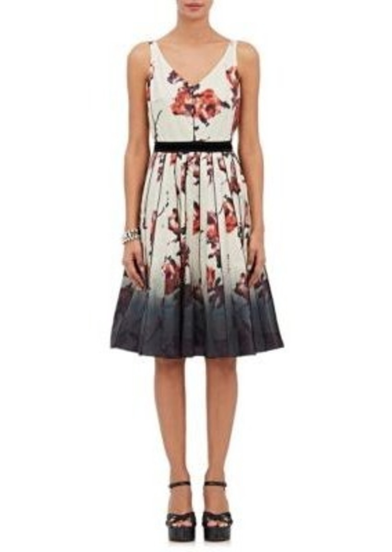 Marc Jacobs Women's Floral-Print Sateen Fit & Flare Dress Size 2