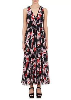 Marc Jacobs Women's Floral-Print Silk Georgette Belted Gown