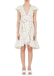 Marc Jacobs Women's Flower-Embroidered Cotton Belted Dress