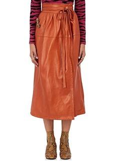 Marc Jacobs Women's Leather Wrap Midi-Skirt