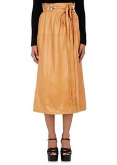 Marc Jacobs Women's Leather Wrap Midi-Skirt