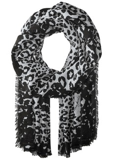 Marc Jacobs Women's Leopard Stole Scarf black/white