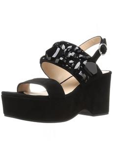 Marc Jacobs Women's Lily Embellished Wedge Sandal  36.5 EU/
