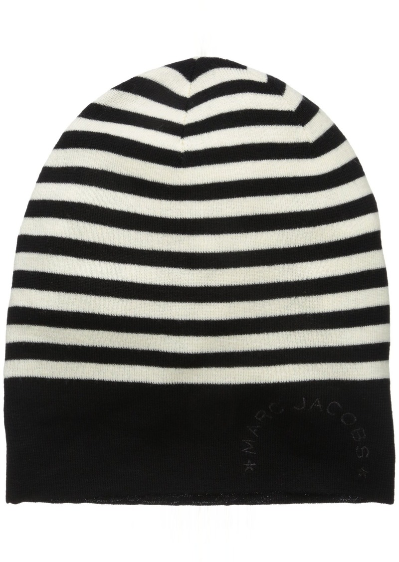 Marc Jacobs Women's Logo Stripe Cold Weather Hat in