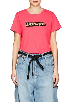 "Marc Jacobs Women's ""Love."" Cotton T-Shirt"