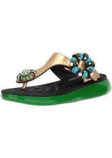 Marc Jacobs Women's Mabel Embellished Sandal Flat  37 M EU (7 US)