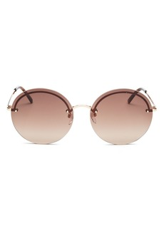 MARC JACOBS Women's Marc Rimless Round Sunglasses, 60mm