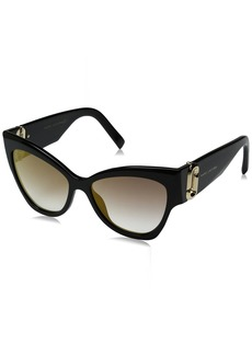 Marc Jacobs Women's Marc109s Cateye Sunglasses Black/Gray SF Gold SP 54 mm