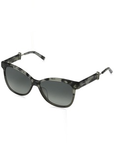 Marc Jacobs Women's Marc130s Square Sunglasses Havana/Gray Gradient 55 mm
