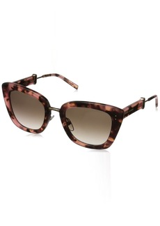 Marc Jacobs Women's Marc131s Cateye Sunglasses PINK HAVANA/BROWN GRADIENT 53 mm