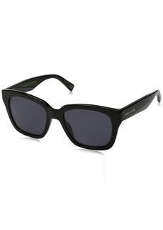 Marc Jacobs Women's Marc229s Polarized Square Sunglasses BK Glittr 52 mm