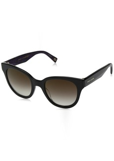 Marc Jacobs Women's Marc231s Cateye Sunglasses BKBKWHANI 50 mm