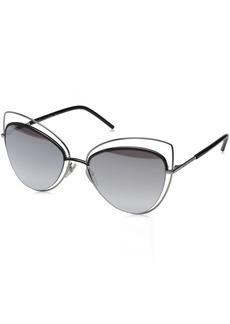 Marc Jacobs Womens MARC8S Cateye Sunglasses Ruthenium Black/Gray SF Silver SP 56 mm