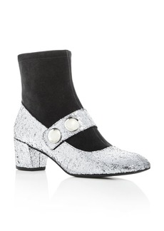 MARC JACOBS Women's Margaux Glitter & Suede Booties