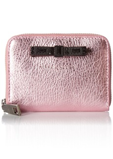 Marc Jacobs Women's Metallic Bow Zip Card Case