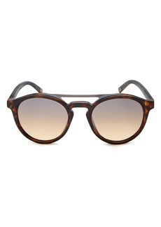 MARC JACOBS Women's Mirrored Brow Bar Round Sunglasses, 51mm