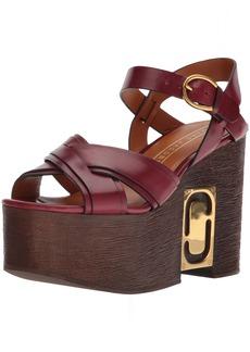 Marc Jacobs Women's Paloma Status Wedge Sandal  37 M EU (7 US)