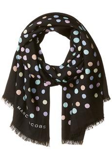 Marc Jacobs Women's Pastel Dot Large Scarf black/Multi