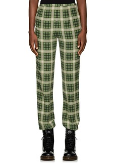 Marc Jacobs Women's Plaid Washed Silk Pants