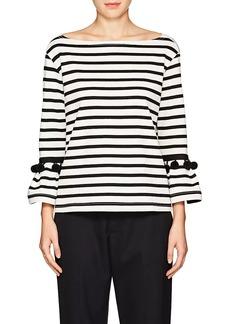 Marc Jacobs Women's Pom-Pom-Trimmed Striped Cotton Top