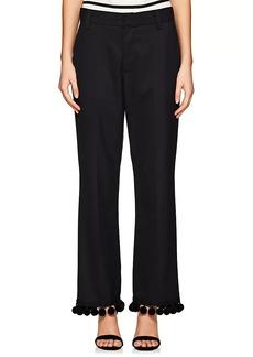Marc Jacobs Women's Pom-Pom-Trimmed Wide-Leg Pants